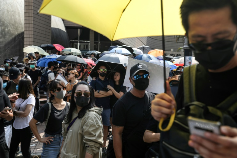 Thousands joined the unsanctioned rally in Hong Kong regardless.