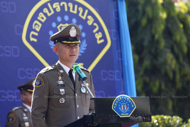 Crime Suppression Division chief Pol Maj Gen Jirapop Phuridech