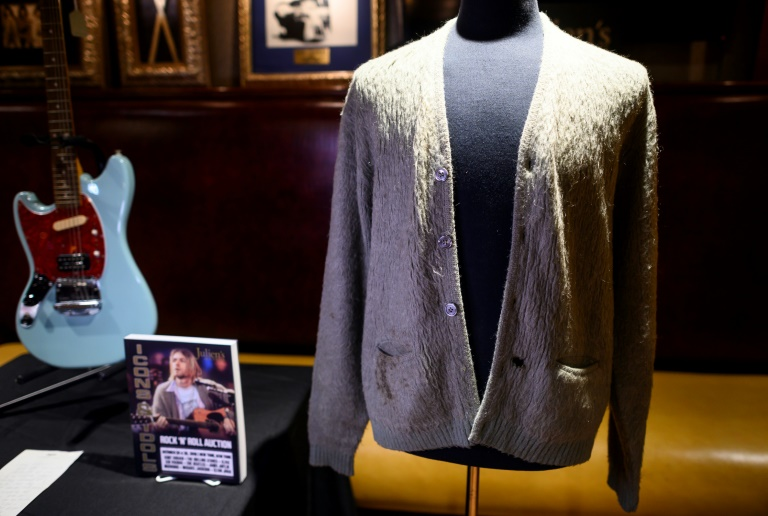 £260k Kurt cardie: Cobain's tatty MTV Unplugged top is an auction record