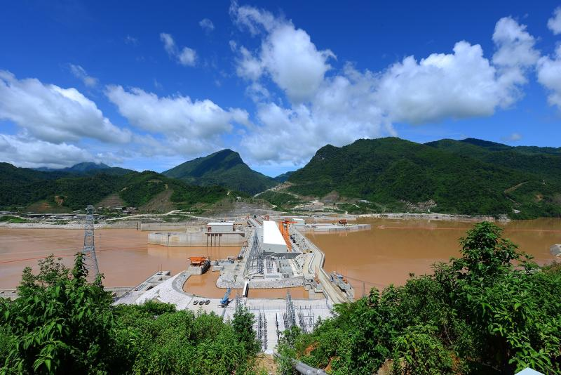 The 130-billion-baht Xayaburi Hydroelectric Power Plant in Laos developed by CK Power Plc opened on Tuesday. (Image supplied)