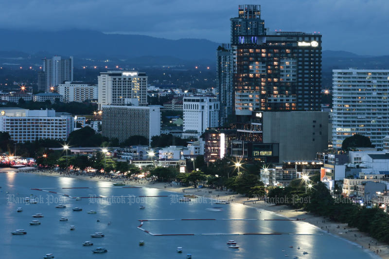 Pattaya could face water shortges next year as levels of reservoirs in Chon Buri have dropped. (Bangkok Post photo)