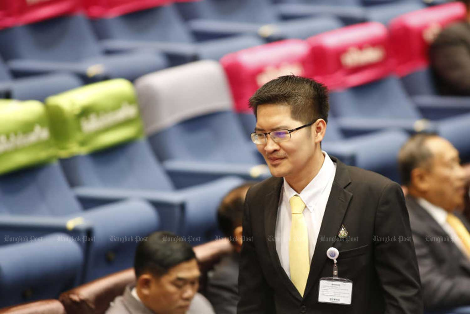 Mongkonkit: Ready to receive whatever punishments seen fit by the House speaker. (Bangkok Post file photo)