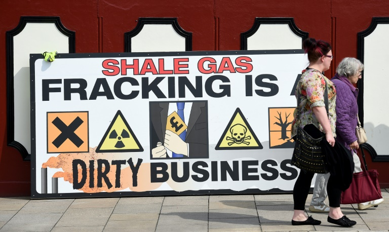 UK halts fracking ahead of election; some want permanent ban