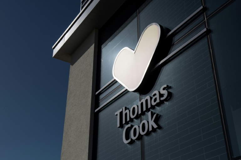 Thomas Cook's demise in September sparked 22,000 job losses worldwide and triggered Britain's biggest repatriation since World War II, with the government paying to fly home 140,000 tourists. (AFP photo)