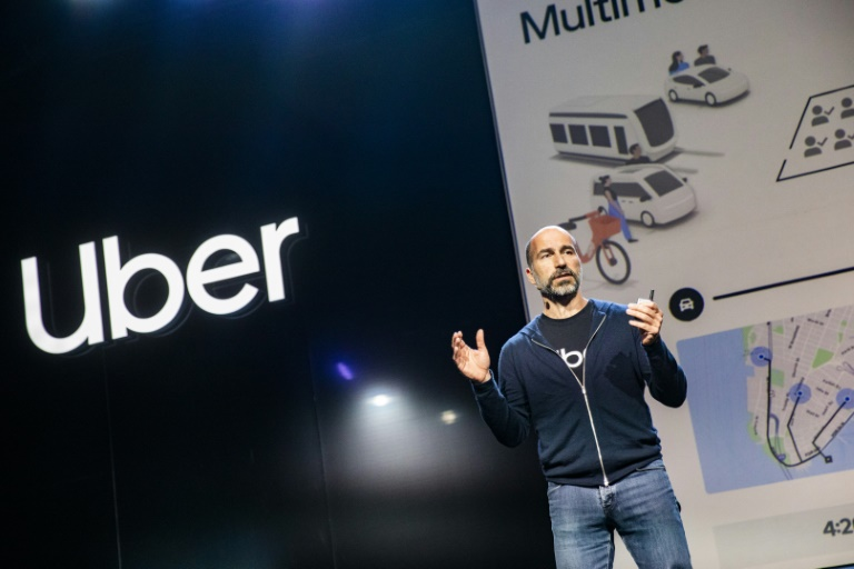Uber CEO Dara Khosrowshahi says that despite wider losses, the company's core rideshare business is moving toward profitability.