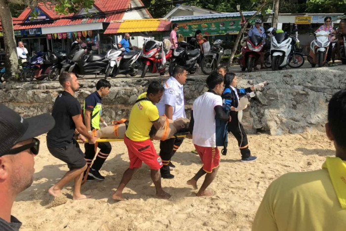 Chinese man rescued from sea off Phuket beach