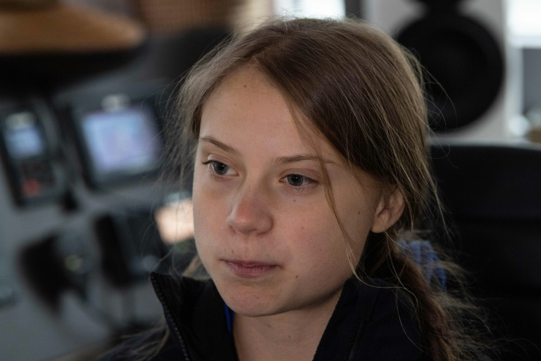 Swedish climate activist Greta Thunberg spoke in an interview with AFP on the eve of her departure from North America, in Hampton, Virginia, US.