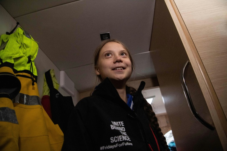 Thunberg, teen climate activist, leaves U.S. aboard catamaran