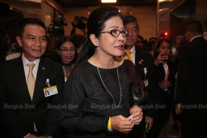 Pheu Thai chief strategist Khunying Sudarat Keyuraphan says the party will defend a by-election in Constituency 7 in Khon Kaen province at all costs. (Bangkok Post file photo)