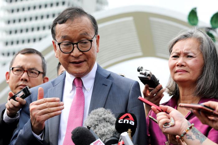 Sam Rainsy heads to Singapore