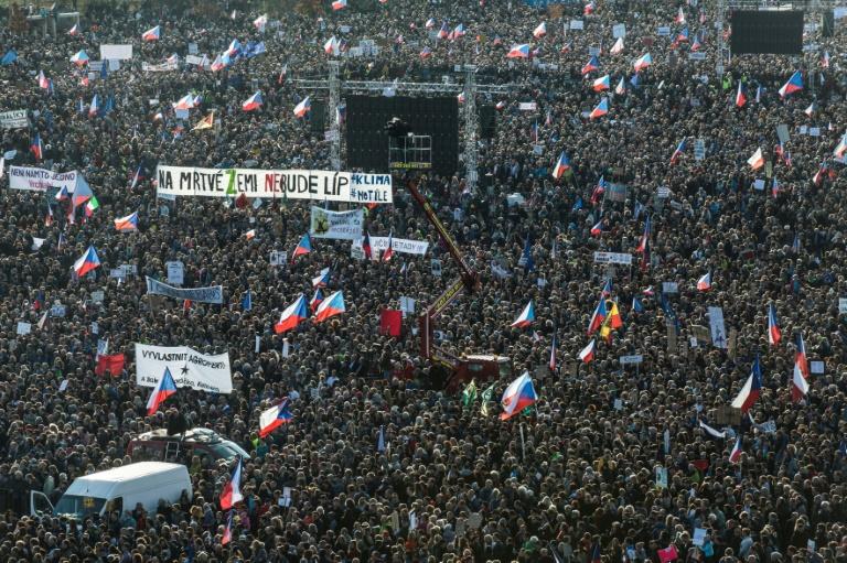 Czechs use anniversary of Velvet Revolution to pressure PM