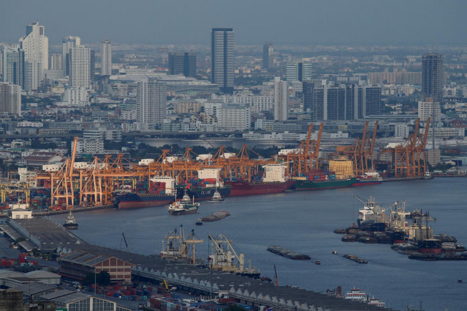 A view of the port of Bangkok. (Photo: Reuters/file)