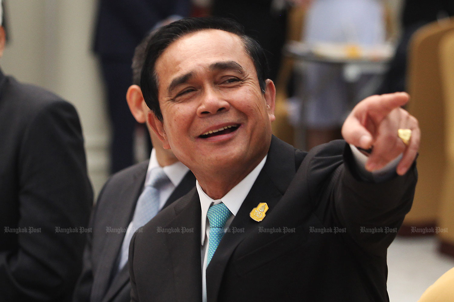 Prayut Chan-o-cha will fly to South Korea on Sunday. (Bangkok Post file photo)
