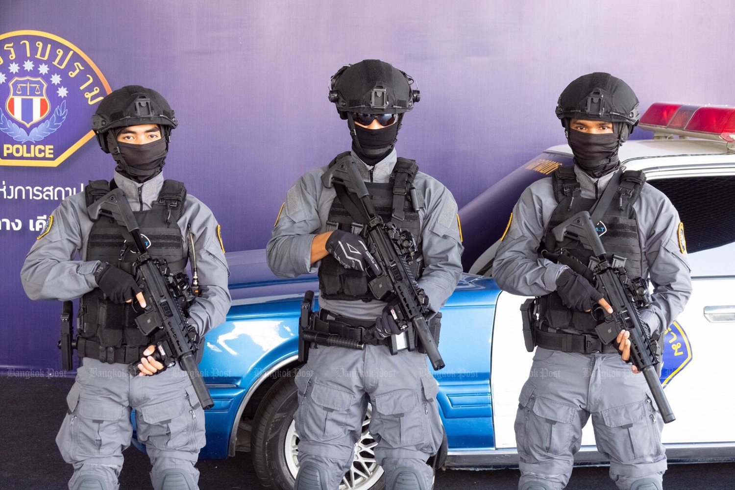 A new special weapons and tactics unit has been set up by the Crime Suppression Division to replace a commando unit. (Photo by Wassayos Ngamkham)