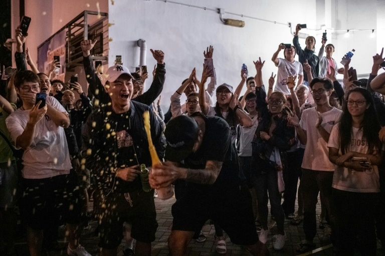 Hong Kong media have reported that the city's pro-democracy camp is headed for a stunning victory in the district council elections
