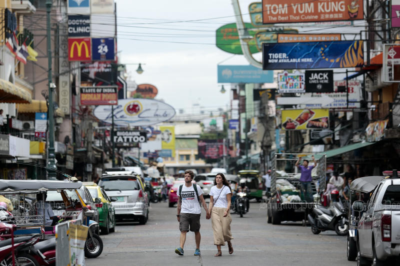 Khao San Road is one of three streets in Bangkok to become vehicle-free at times next month. (Photo by Patipat Janthong)