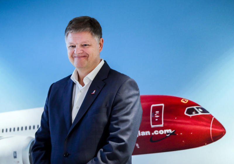 Jacob Schram poses for the media after being announced as the new CEO of Norwegian Air Shuttle, in Oslo, Nov 20, 2019. (AP file photo)