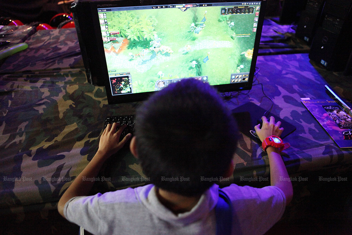 3-5 hours of gaming time on average for Thai gamers. (Bangkok Post file photo)