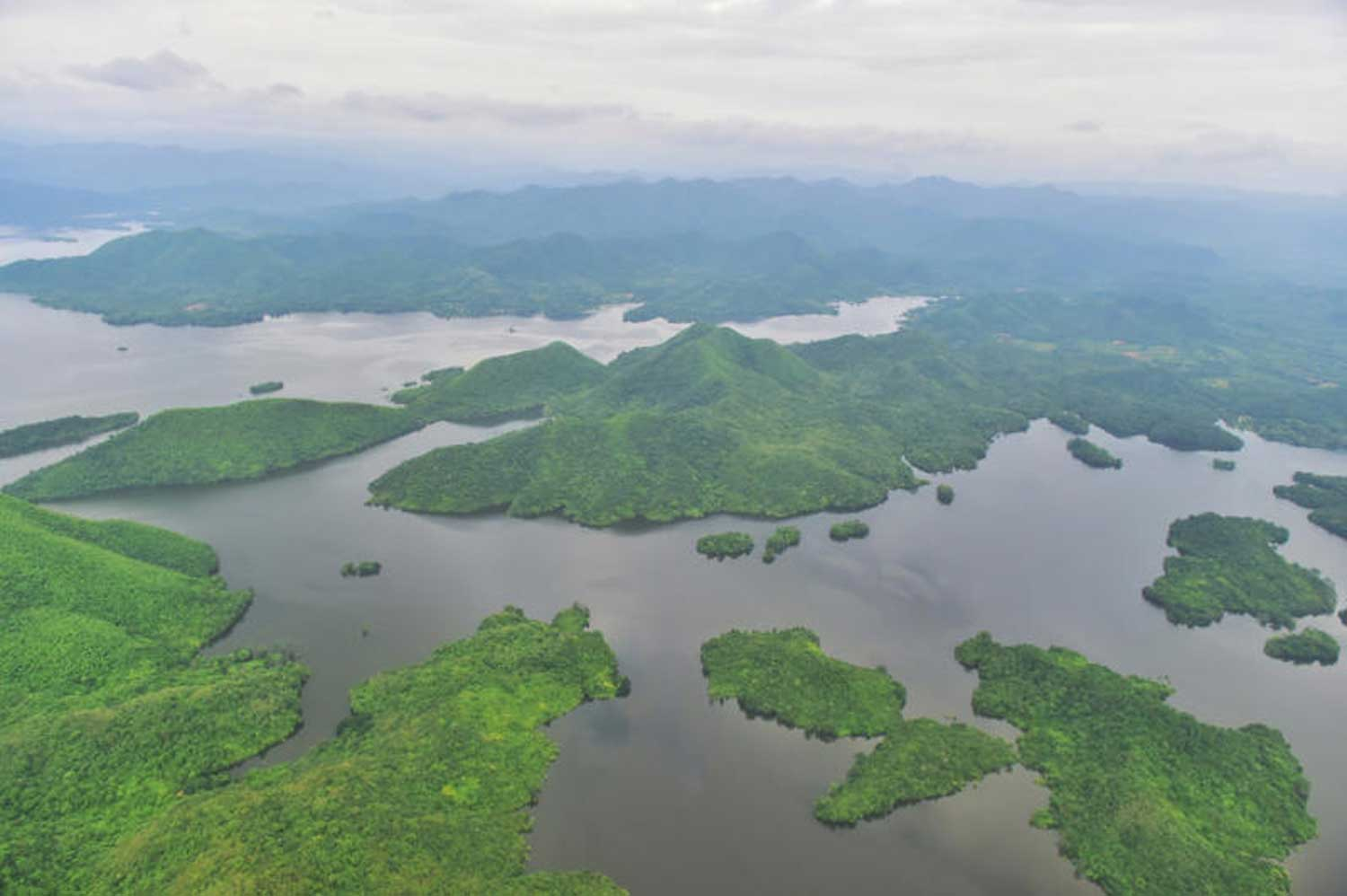A bird's eye view of Kaeng Krachan Forest Complex. Thailand hopes it will be accepted for listing as a World Heritage site next year. (Photo supplied)