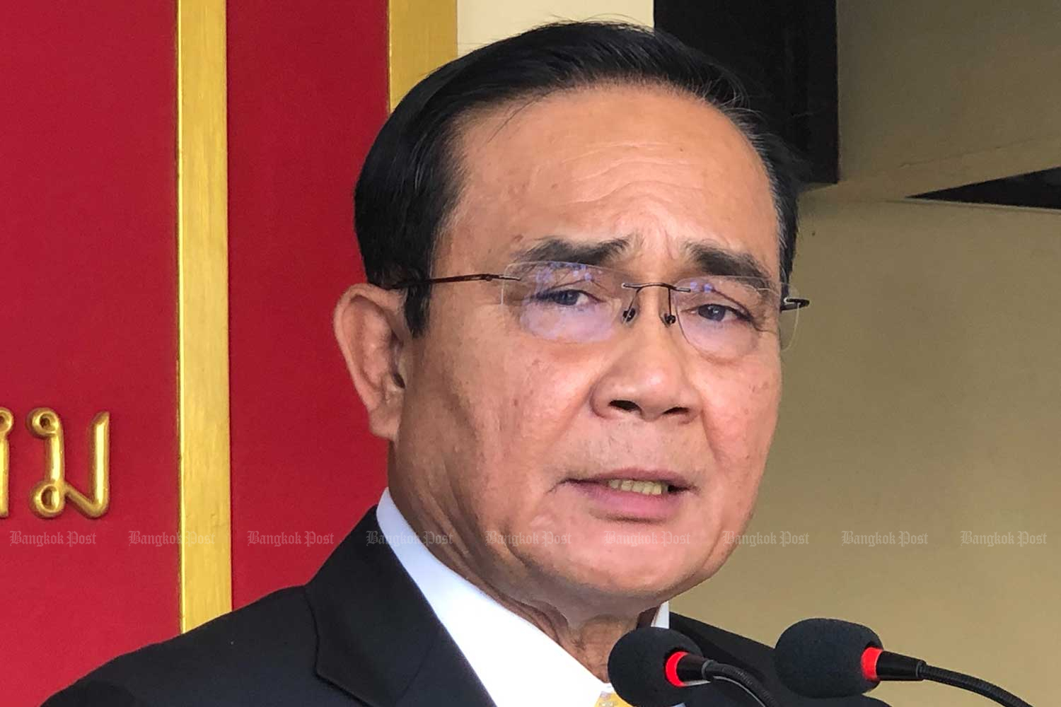 Prime Minister Prayut Chan-o-cha accuses Future Forward leader Thanathorn Juangroongruangkit for allegedly running the