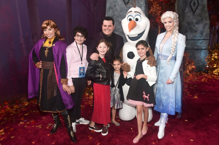 Anna, Olaf, Elsa, actor Josh Gad, and guests attend the world premiere of Disney's