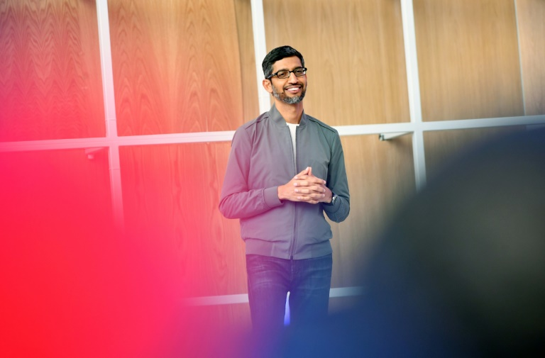Google CEO Sundar Pichai, seen at the Google I/O 2019 on May 7, will become chief executive at the tech firm's parent Alphabet