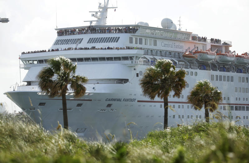 The Carnival Fantasy cruise ship leaves PortMiami, in Miami Beach, Florida, US on June 20, 2016. The Caribbean and Mediterranean could eventually be rivalled by Southeast Asia, a budding hotspot for Chinese voyagers. (AP file photo)