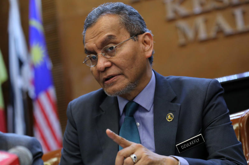 Malaysia's Health Minister Dzulkefly Ahmad speaks during a news conference in Putrajaya, Malaysia, on Monday. (Reuters photo)
