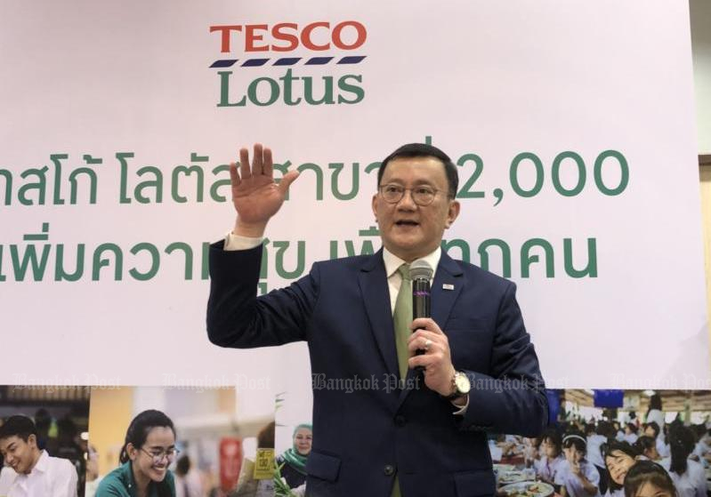 Sompong Rungnirattisai, Chief Executive Officer of Tesco Lotus, said in August 2018 that Tesco was committed to continued investment in Thailand. (Bangkok Post file photo)