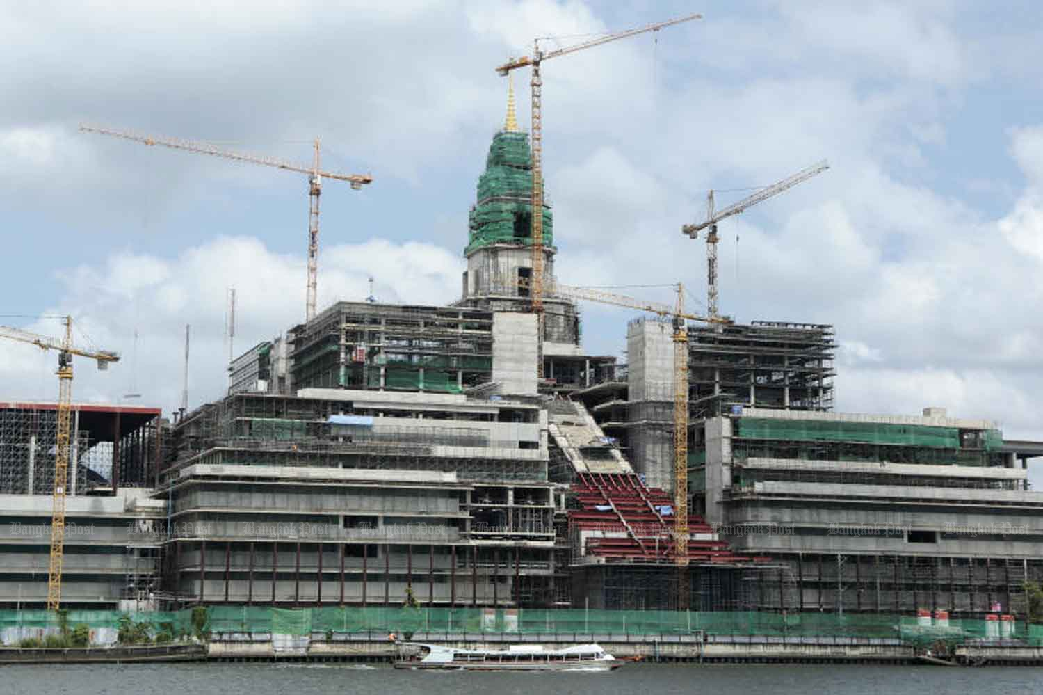 The new parliament complex under construction in June. (Bangkok Post file photo)