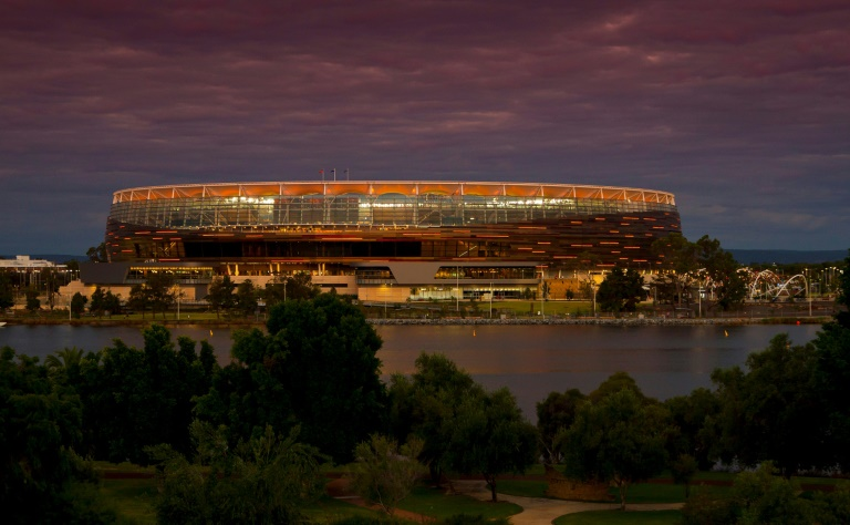 Day-night tester: New Zealand face Australia under lights at the Optus Stadium in Perth in the first Test of three this week