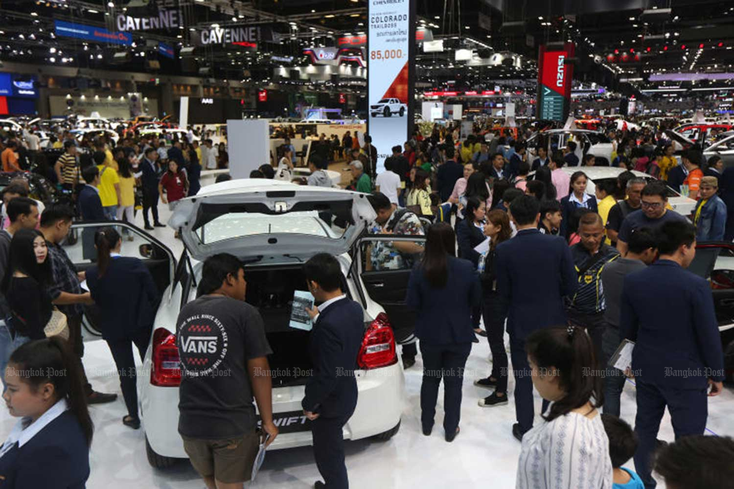 The 36th Thailand International Motor Expo ended on Tuesday at Impact Muang Thong Thani with 44,740 bookings for cars and motorcycles, down 16.2% on last year's show. (Photo by Varuth Hirunyatheb)