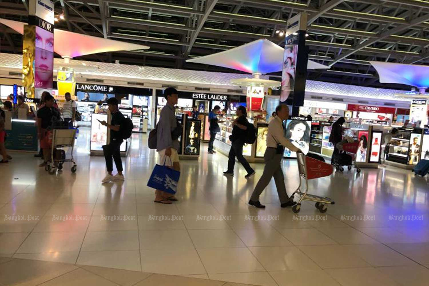 Airports of Thailand says duty-free giant King Power is the sole applicant for the duty-free contract at Don Mueang airport. (File photo)
