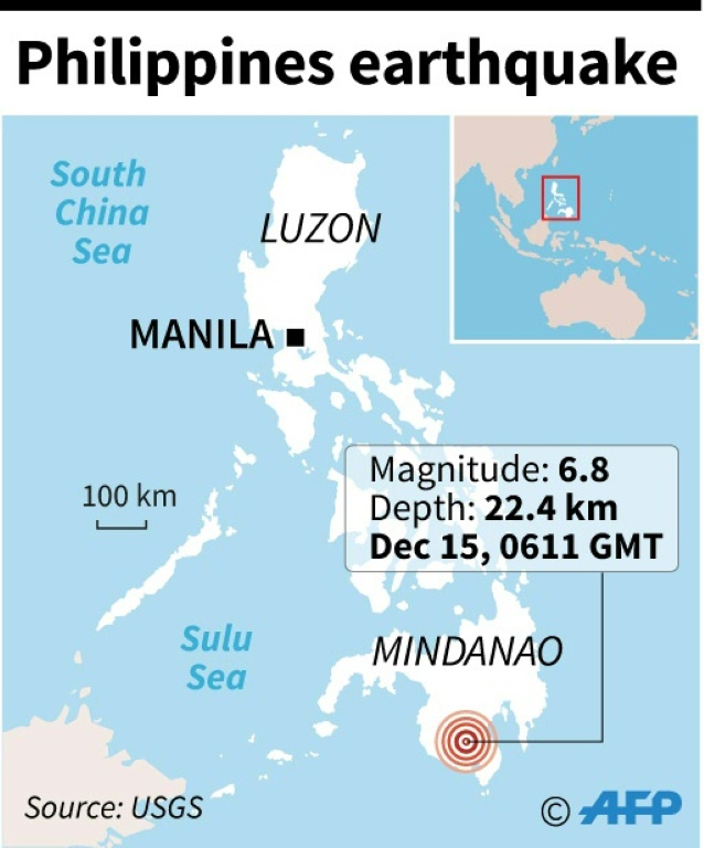 Six-year-old girl dies after M6.8 quake in the Philippines