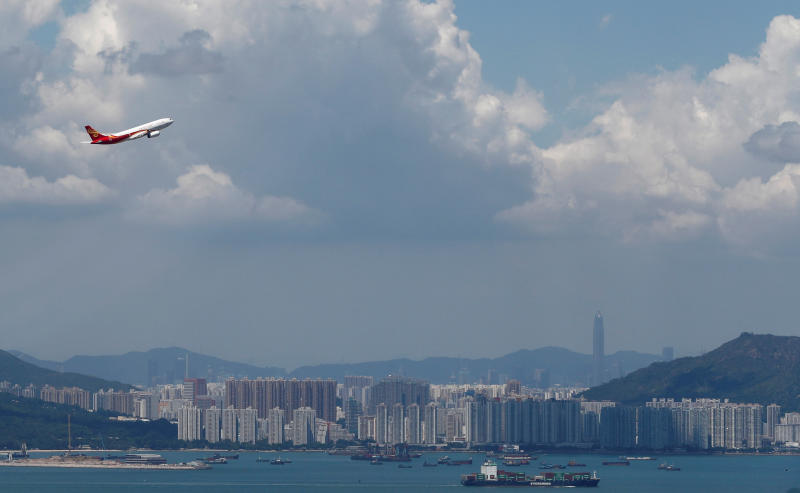 A Hong Kong Airlines plane takes off from the Hong Kong International Airport, China Sept 6, 2019. (Reuters file photo)