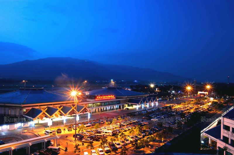 Chiang Mai airport will serve passengers until 7pm on Tuesday to avoid lanters and fireworks. (Airports of Thailand photo)