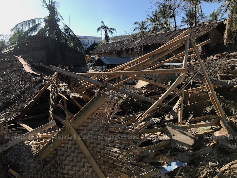 Christmas-typhoon damage on Boracay island, in the Philippines. (Photo: Dave Kendall)