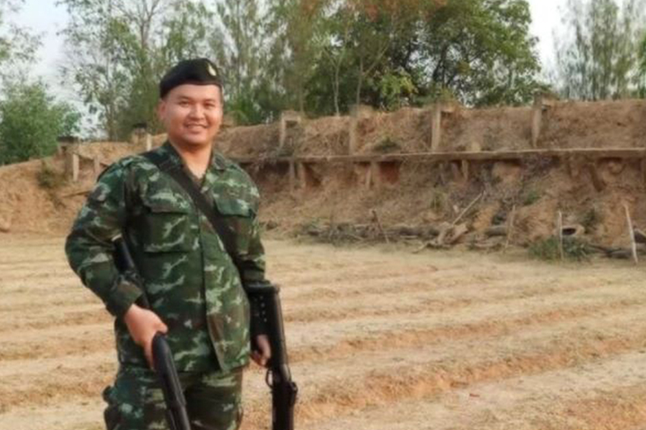 The picture of Sgt Maj 1st Class Jakrapanth Thomma is seen on his Facebook account.