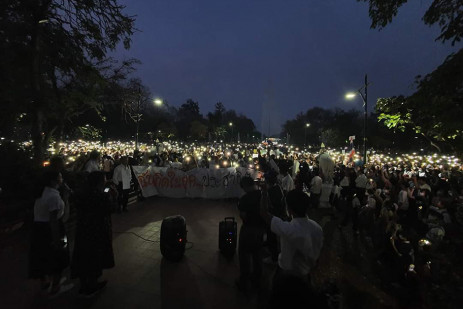 Pro-democracy students stage flash rallies -3