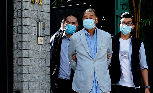 Hong Kong tycoon arrested under security law