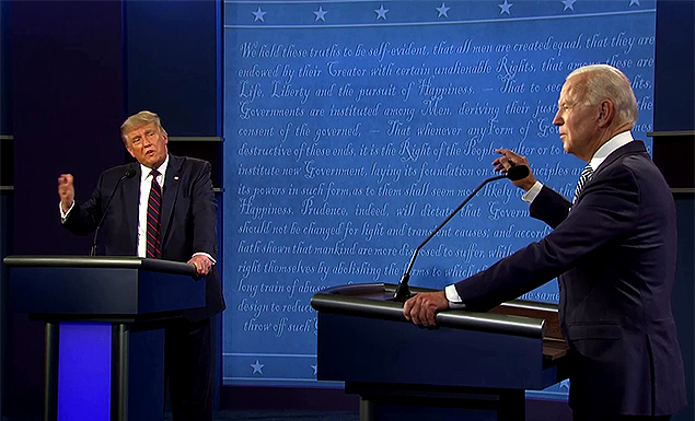 'Shut up': First presidential debate begins