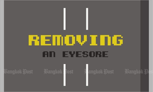 Removing an eyesore