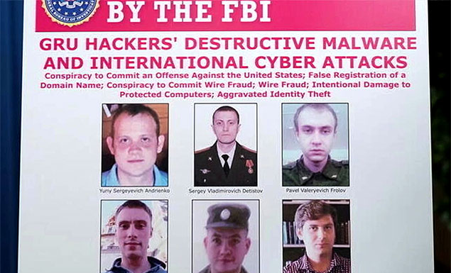 U.S. charges 'petulant' Russian GRU hackers