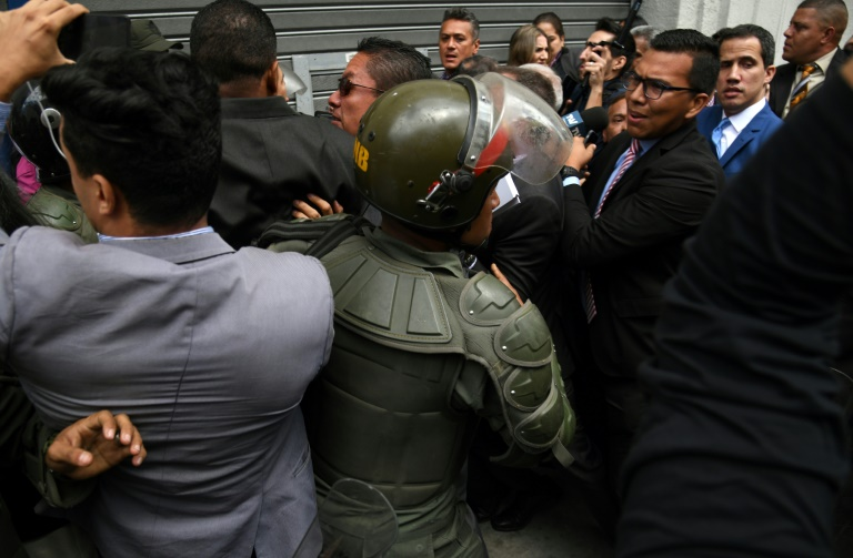 Venezuela's Guaido Stopped From Entering National Assembly