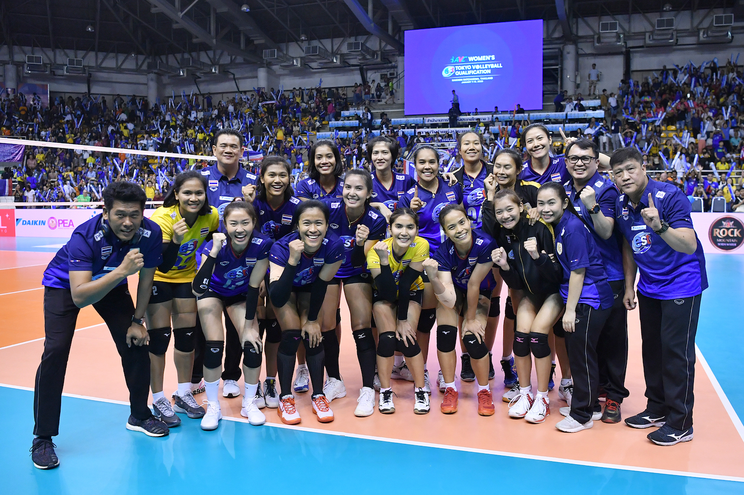 Thai Spikers ONE WIN away from Olympic Games