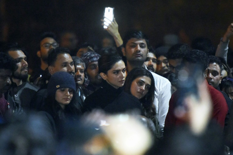 Padukone waded into a sea of student protesters in Delhi on Tuesday night, evoking cheers from the surprised crowd
