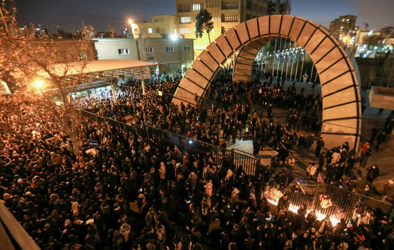 Iranians gathered in Tehran to honor those killed when the Ukraine International Airlines plane was shot down shortly after taking off.