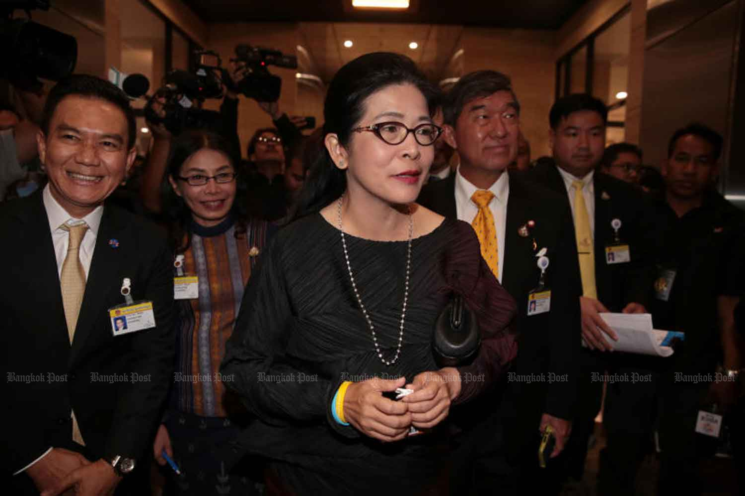 Khunying Sudarat Keyuraphan admits she is facing resistance from certain factions within the main opposition party.  Chanat Katanyu