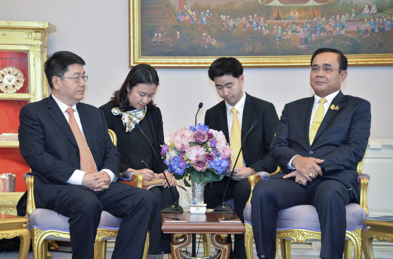 Peng Chun, President of China Investment Corporation, meets Prime Minister Gen Prayut Chan-o-cha at Government House on July 4, 2019. (Photo supplied)