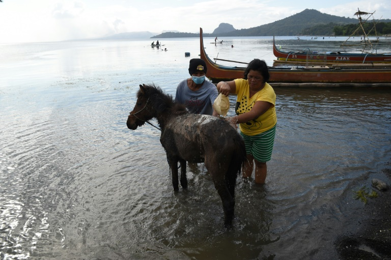 Taal's community had to flee without their prized ponies and most of their possessions when the volcano errupted.